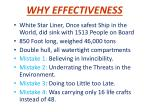 why effectiveness