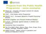 projects from the public health programme some examples
