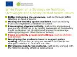 white paper on a strategy on nutrition overweight and obesity related health issues