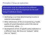 principle 2 focus on outcomes