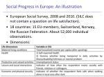 social progress in europe an illustration