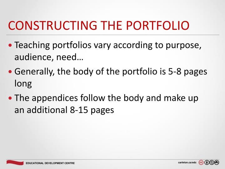 Constructing the Portfolio
