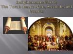 enlightenment part 2 the torah meets plato aristotle and friends