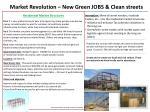 market revolution new green jobs clean streets