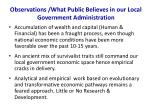observations what public believes in our local government administration