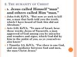 2 the humanity of christ2