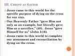 iii christ as savior