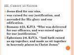 iii christ as savior1
