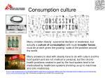 consumption culture