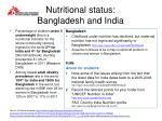 nutritional status bangladesh and india