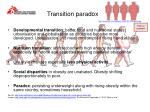 transition paradox