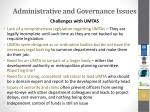 administrative and governance issues1