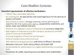case studies lessons