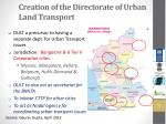 creation of the directorate of urban land transport