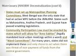 more issues jnnurm decentralization cont d