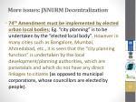more issues jnnurm decentralization