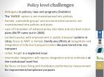 policy level challenges