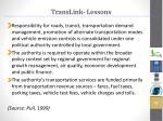translink lessons