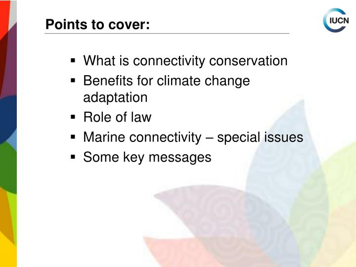 Points to cover: