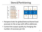 stencil partitioning2