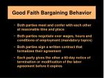 good faith bargaining behavior