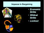 impasse in bargaining