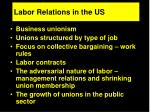 labor relations in the us