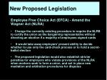 new proposed legislation