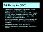 taft hartley act 1947