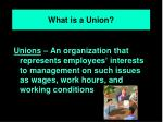 what is a union