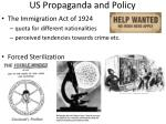 us propaganda and policy