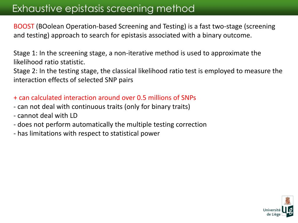 PPT - How to catch epistasis: theory and practice PowerPoint