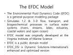 the efdc model
