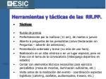 herramientas y t cticas de las rr pp22