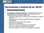 herramientas y t cticas de las rr pp23