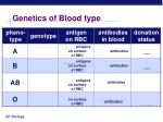 genetics of blood type