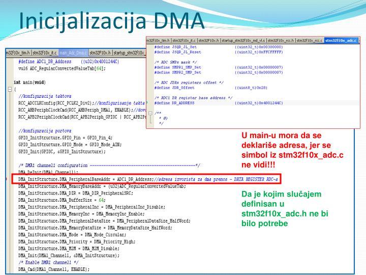 Inicijalizacija DMA