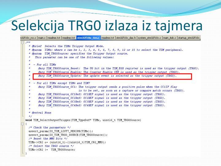 Selekcija TRG0 izlaza iz tajmera