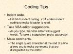 coding tips
