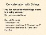 concatenation with strings1