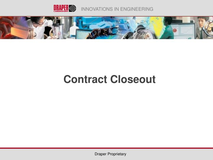 contract closeout n.