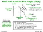 fixed price incentive firm target fpi f