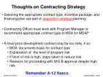 thoughts on contracting strategy