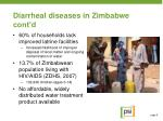 diarrheal diseases in zimbabwe cont d