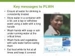 key messages to plwh