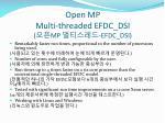 open mp multi threaded efdc dsi mp efdc dsi