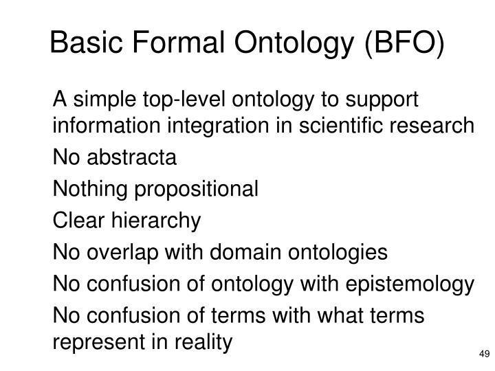 Basic Formal Ontology (BFO)