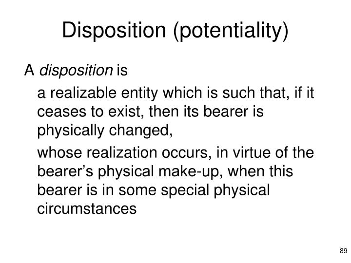 Disposition (potentiality)