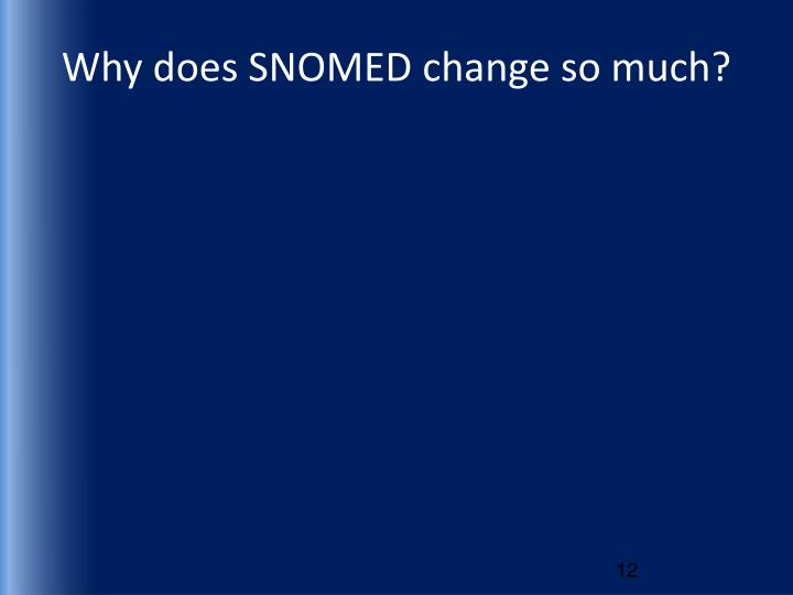 Why does SNOMED change so much?