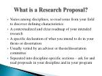what is a research proposal